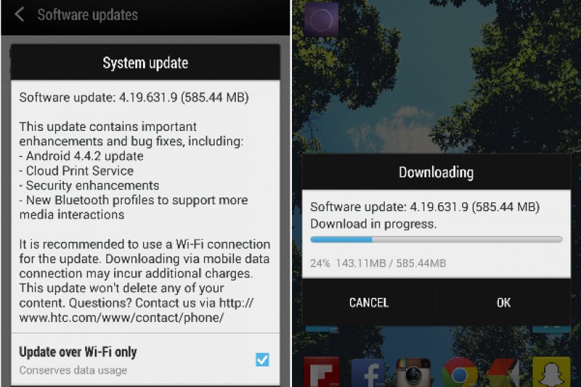 Android 4.4 KitKat update for Canadian HTC One.