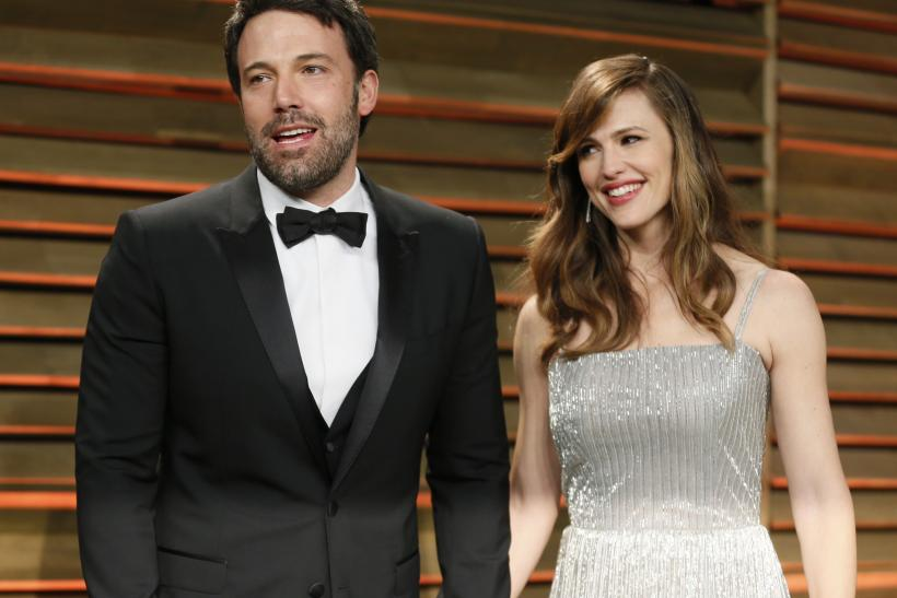 Ben Affleck with his wife