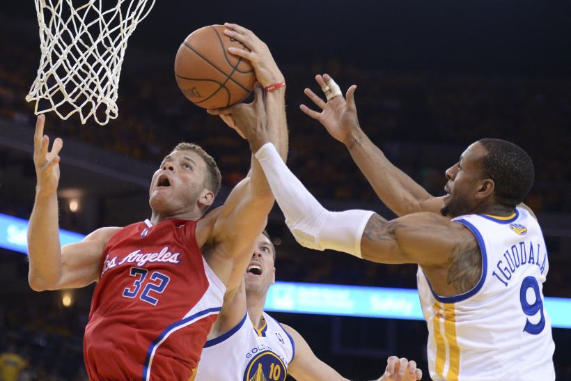 Blake Griffin Andre Igoudala Clippers Warriors