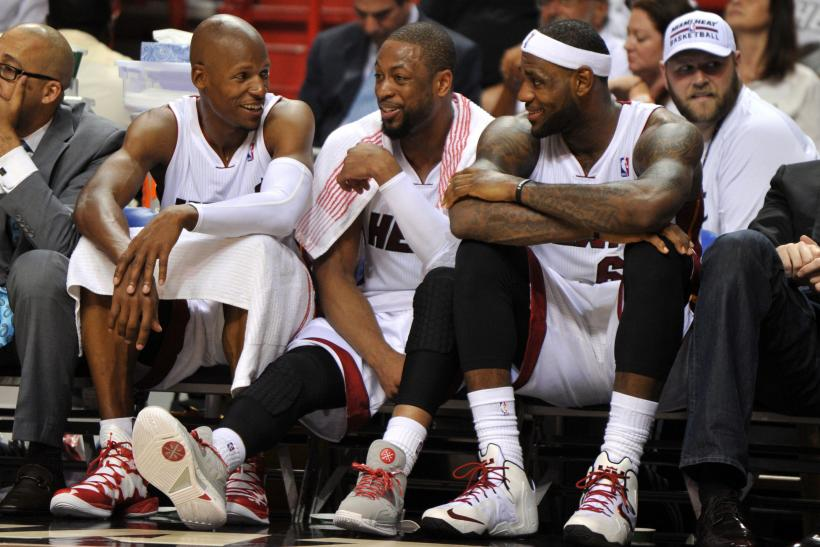 Miami Heat Ray Allen, Dwyane Wade, LeBron James