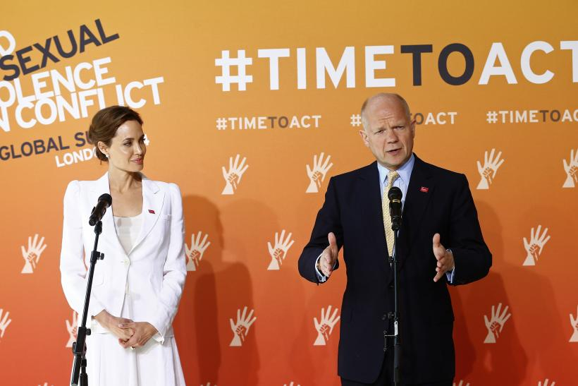 Jolie and Hague