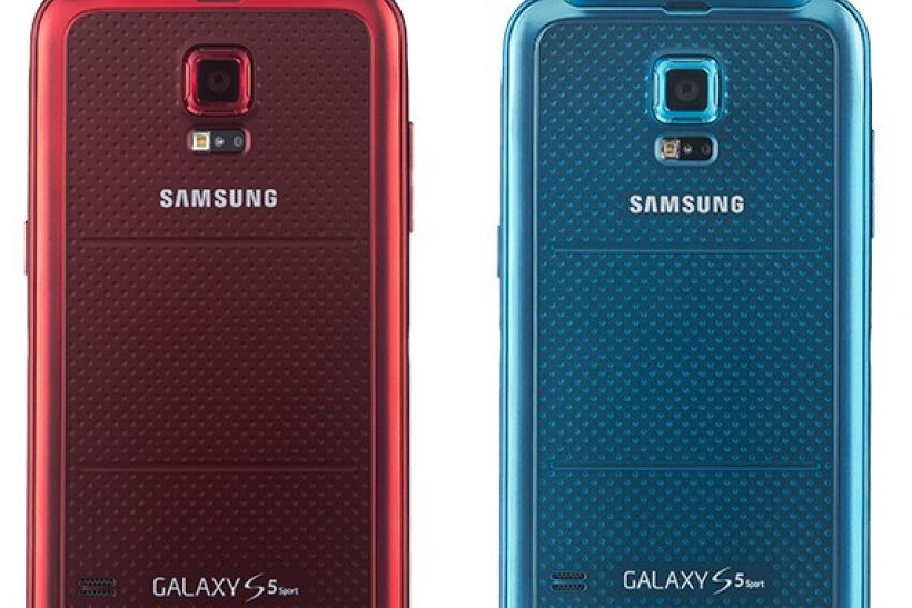 Samsung Galaxy S 5 Sport Cherry Red back low-res(1)