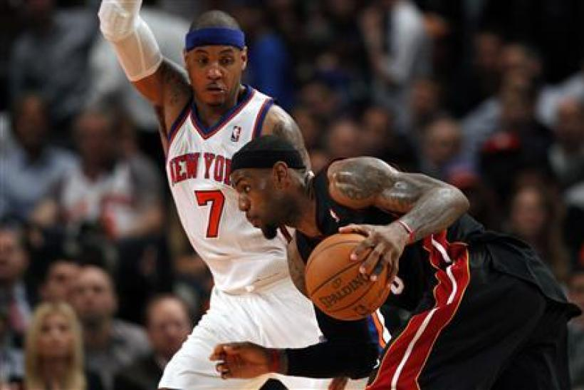 LeBron James Carmelo Anthony