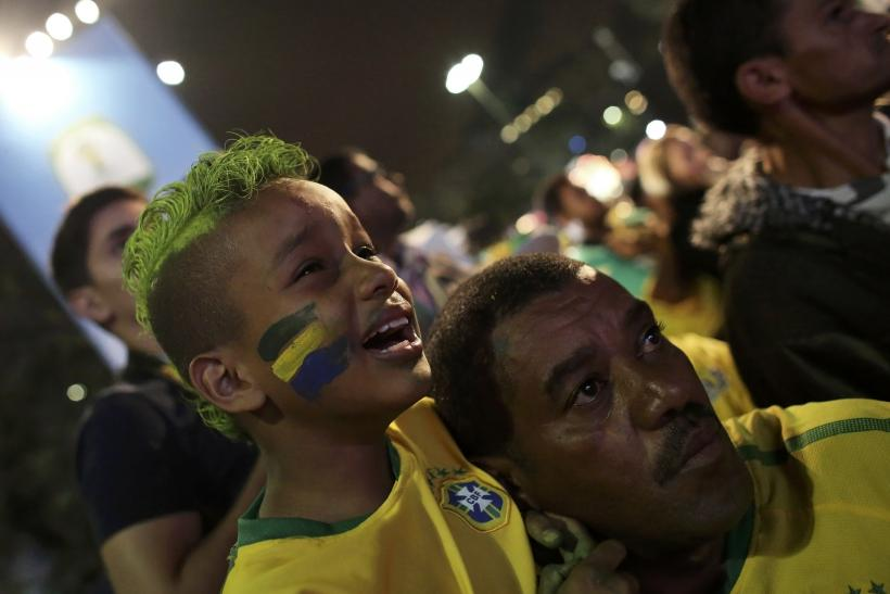 Brazilian boy reacts to loss against Germany