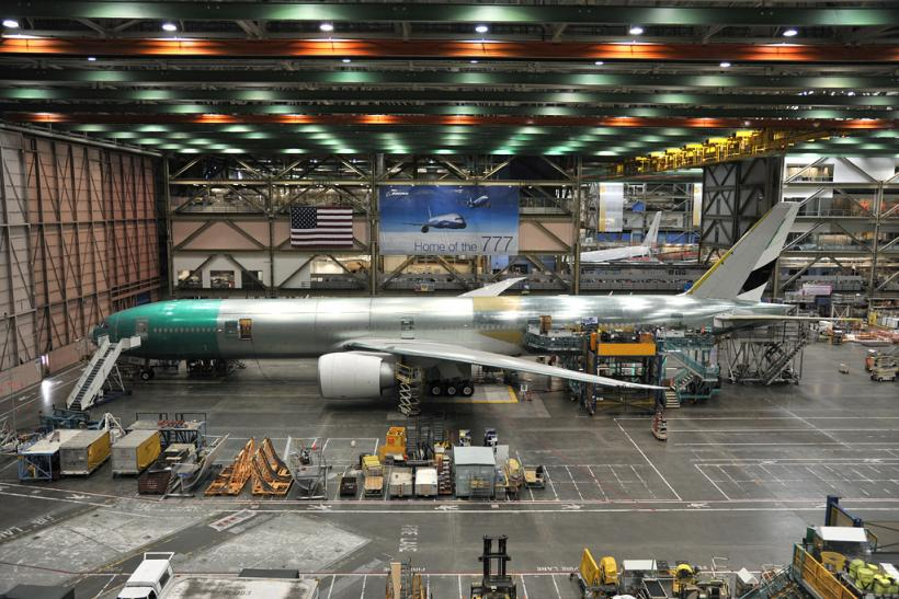 Boeing 777 assembly line