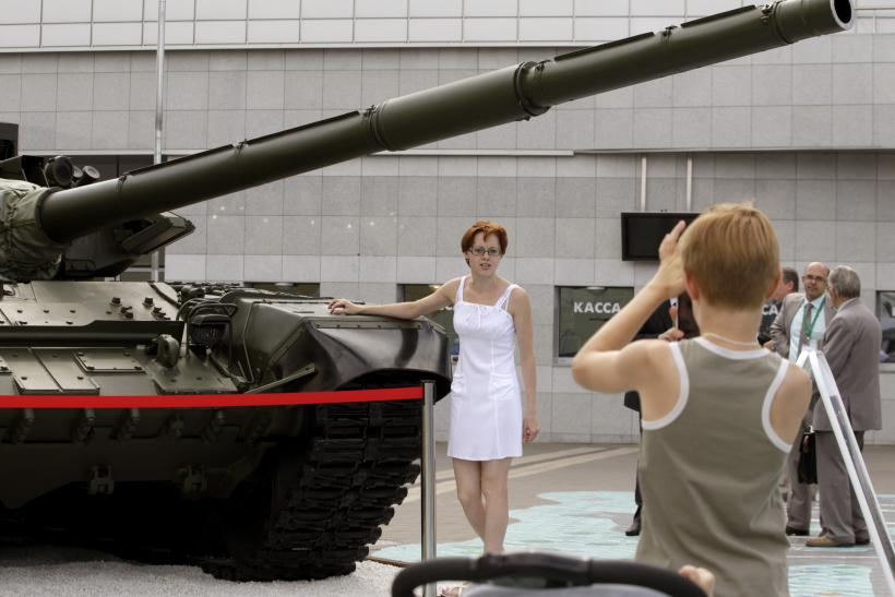 Russia's T-72 battle tank model