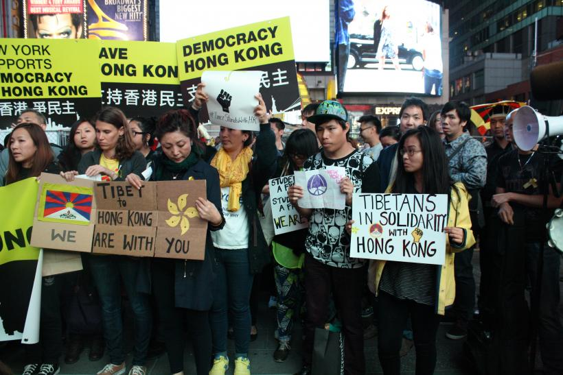Occupy Central protests New York