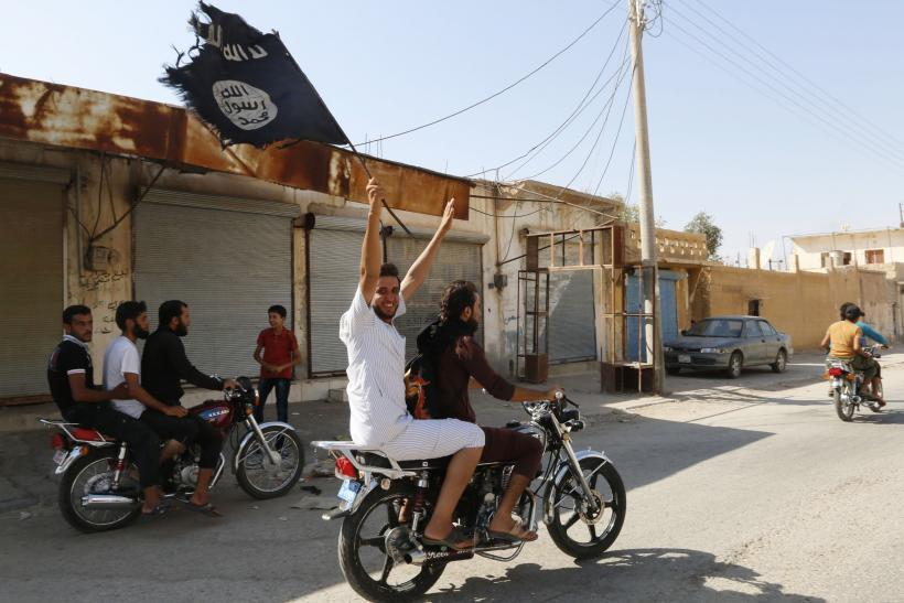 ISIS flag being waved