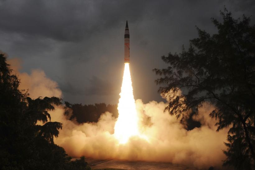 surface to surface Agni-V missile