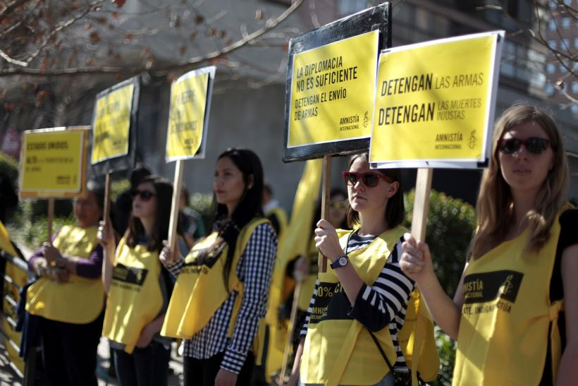 Activists from Amnesty International