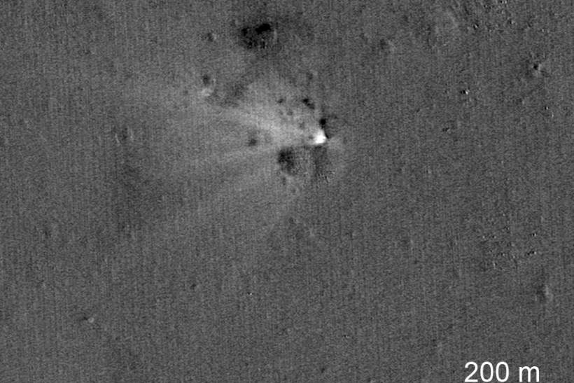 NASA's LADEE crash site
