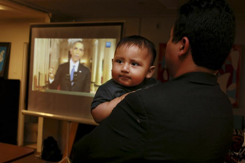 immigrant watches obama speech
