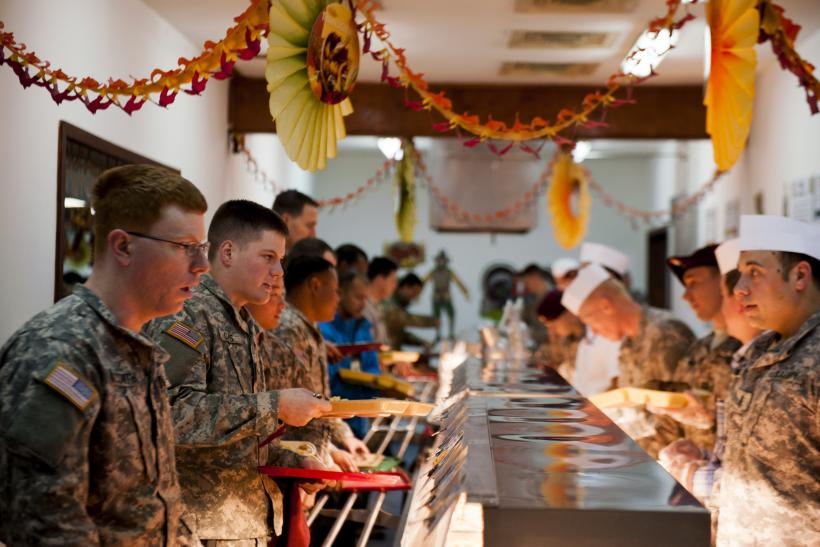US Troops thanksgiving