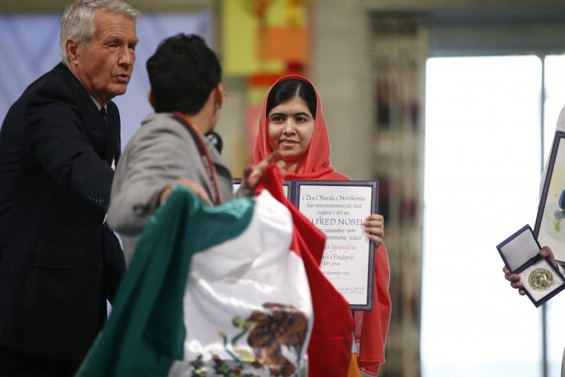Mexican flag Nobel Peace Prize