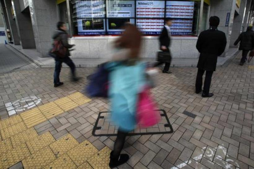 Asian shares down after Greece ferry accident