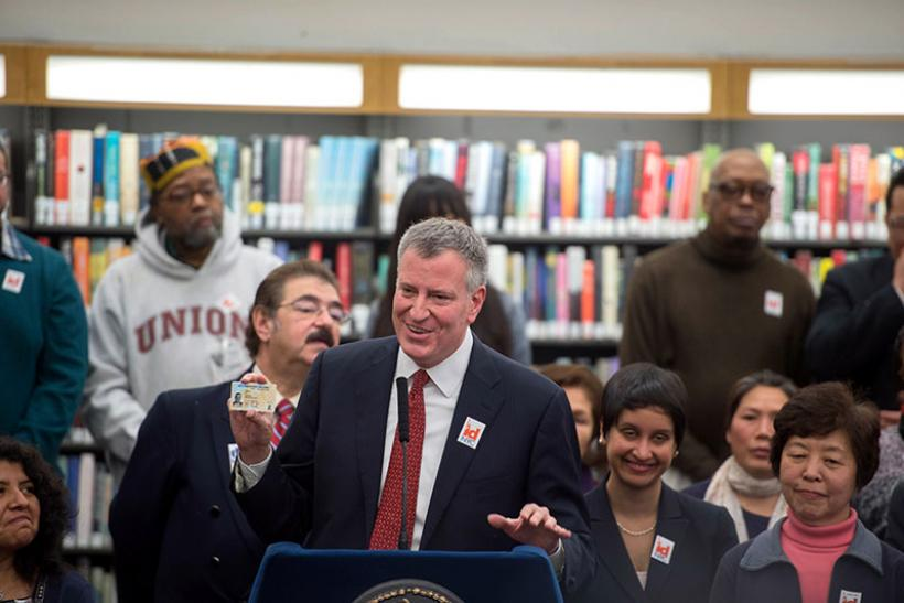 Bill de Blasio launches IDNYC program