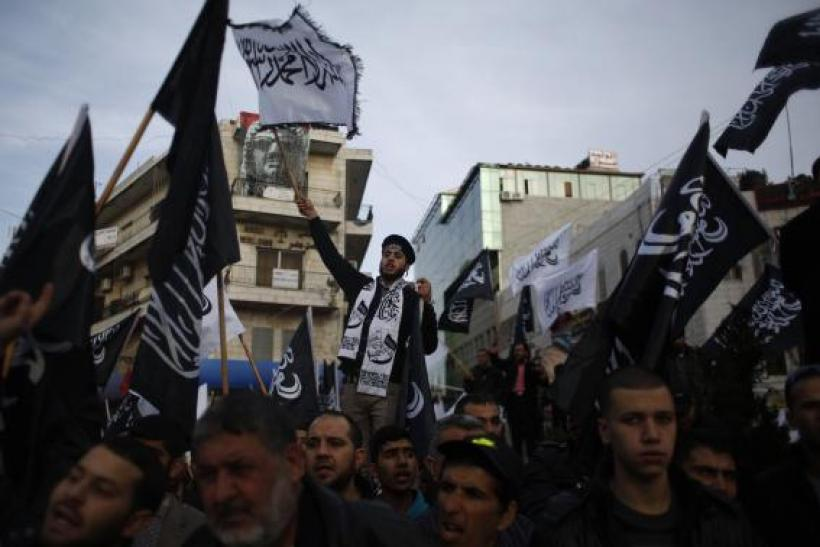 Palestinians protest Charlie