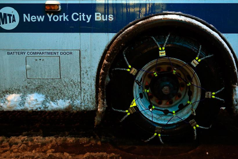 Blizzar NYC_transit bus with chains