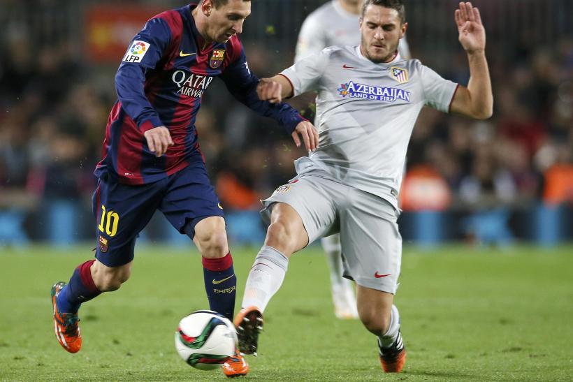 Lionel Messi, Koke, Barcelona Atletico Madrid
