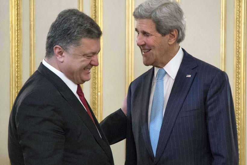 John Kerry and Petro Poreshenko