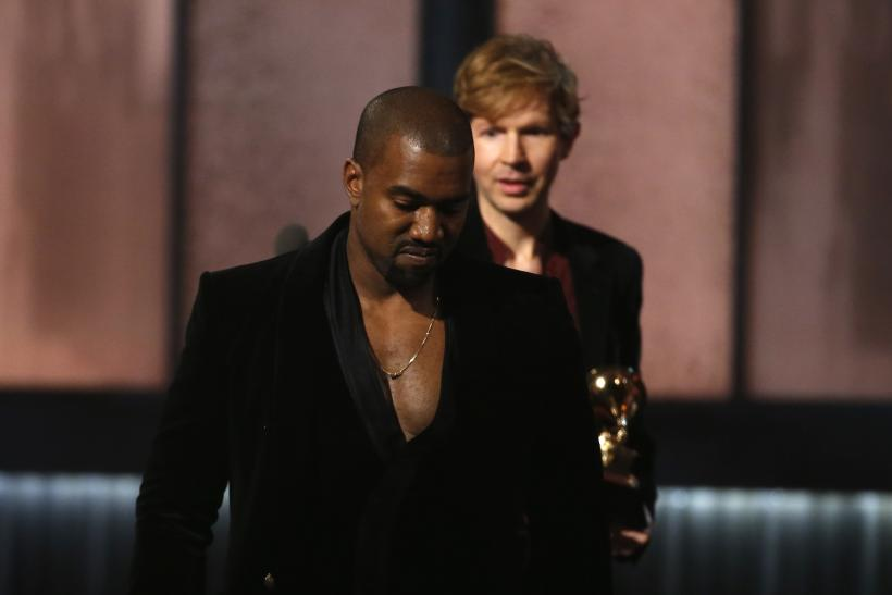 Kaney West an Beck at the Grammys