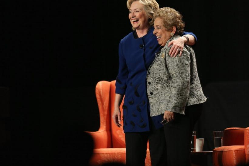 Hillary Clinton and Donna Shalala