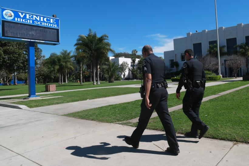 Los Angeles police at Venice High School
