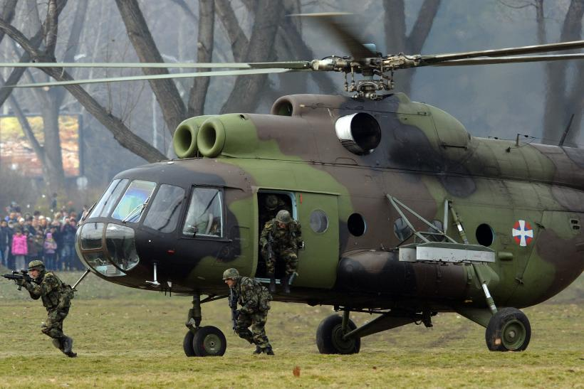 Serbian military helicopter carrying sick child crashes