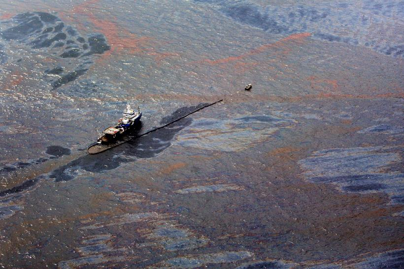 BP Oil Spill Boat