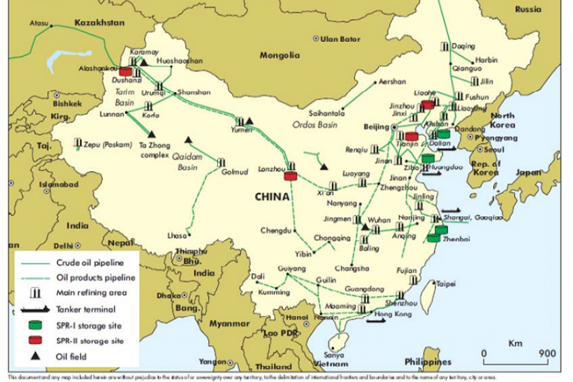 china spr map