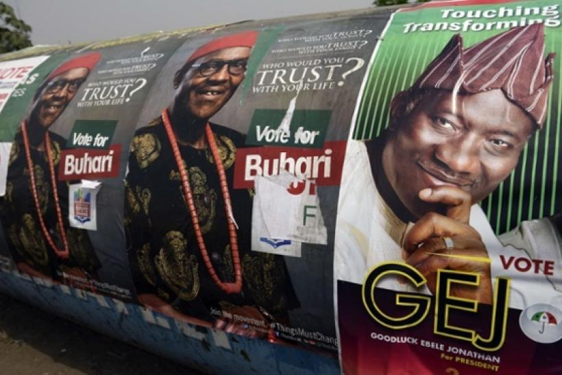 Nigeria's presidential election posters