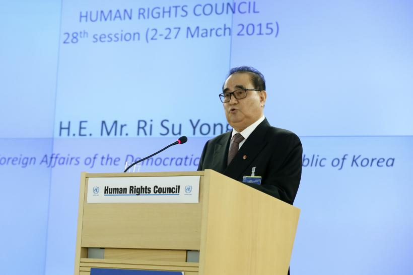 North Korea's Foreign Minister Ri Su Yong