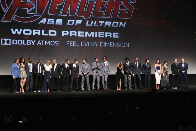 Avengers red carpet