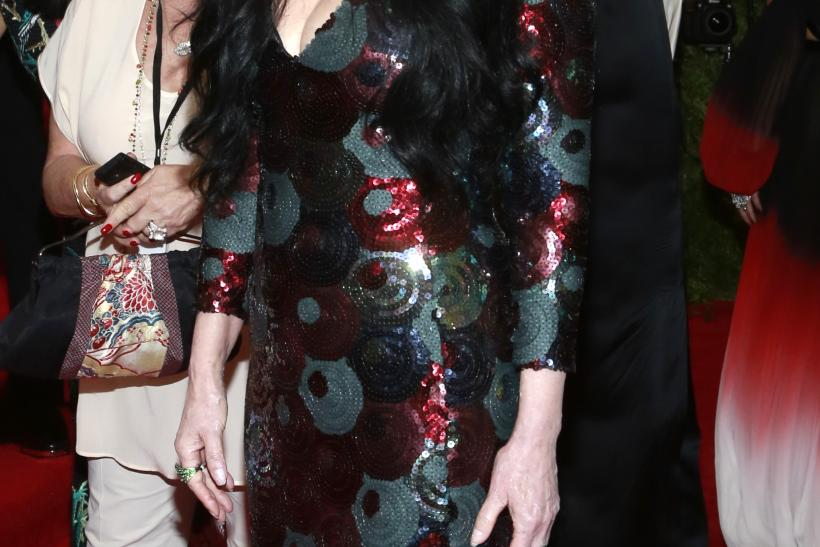 "[10:27] U.S. singer Cher arrives for the Metropolitan Museum of Art Costume Institute Gala 2015 celebrating the opening of ""China: Through the Looking Glass,"""