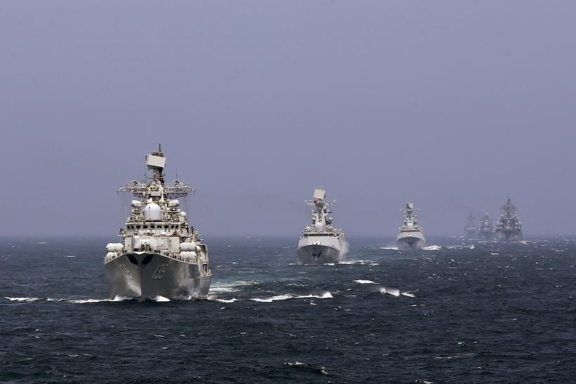 Chinese Ships in formation.