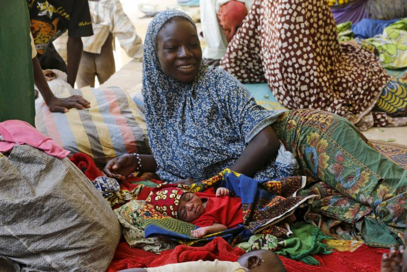 Displaced woman and baby in Nigeria