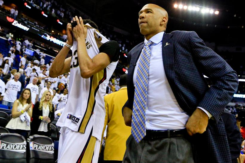 Monty Williams with Anthony Davis