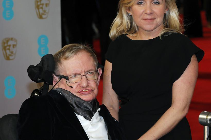 [10:54] Theoretical physicist Stephen Hawking and his daughter Lucy arrive at the British Academy of Film and Arts (BAFTA) awards