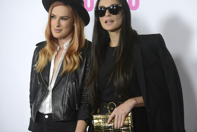 "[8:47] Actress Demi Moore and daughter Rumer Willis (L) attend the premiere of the film ""Palo Alto"" in Los Angeles"