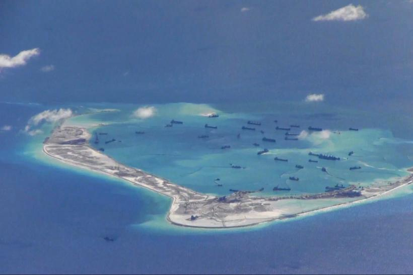 Chinese Dredging Vessels, South China Sea, May 21, 2015