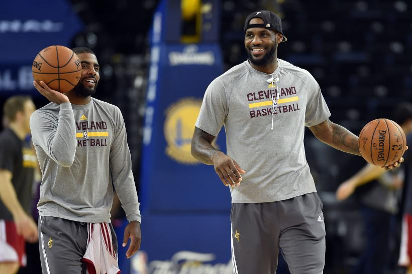 LeBron James Kyrie Irving Cavs 2015