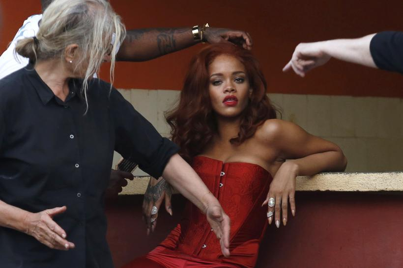 [11:39] Singer Rihanna prepares for a photoshoot with photographer Annie Leibovitz in Havana