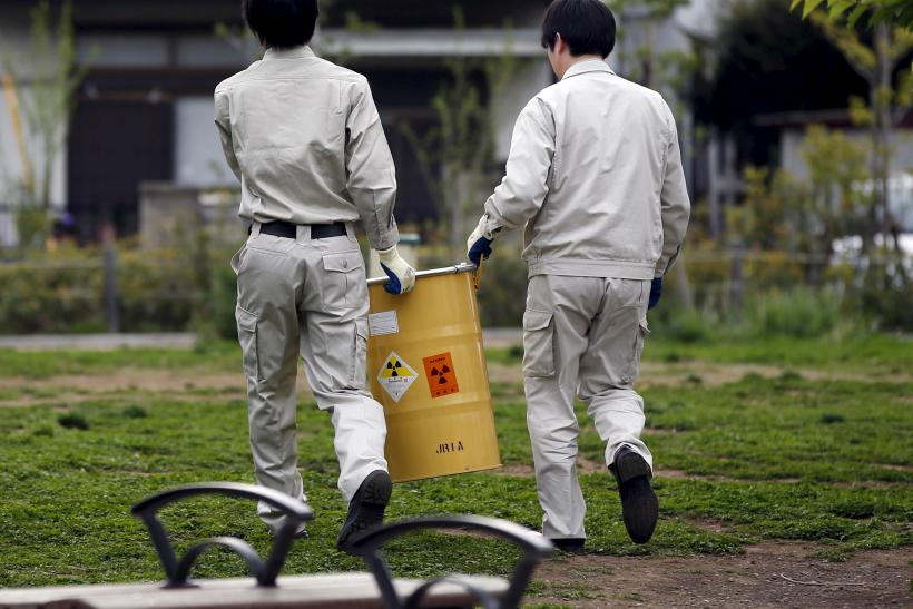 fukushima waste barrel