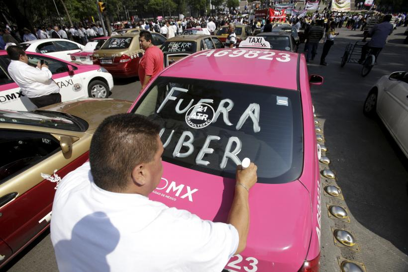 Mexico Uber Protest