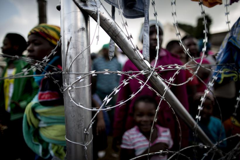 South Africa displacement camp