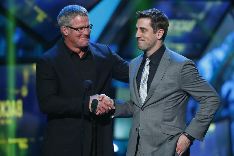 Brett Favre with Aaron Rodgers