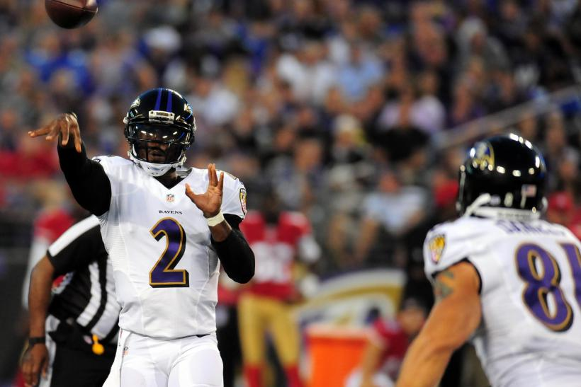 Tyrod Taylor with the Ravens in 2014