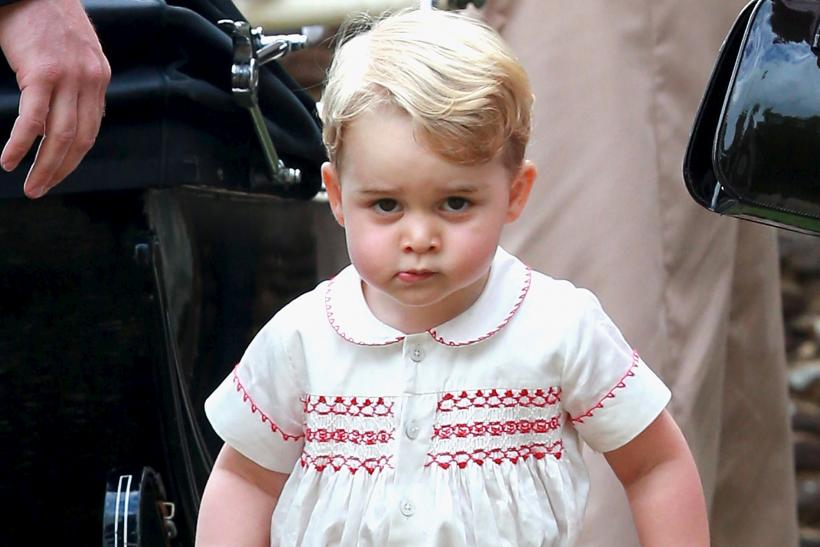 [12:34] Prince George of Cambridge leaves the Church of St Mary Magdalene on the Sandringham Estate for the Christening of Princess Charlotte of Cambridge