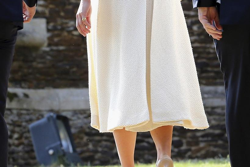 [9:56] Pippa Middleton arrives for the christening of Princess Charlotte at the Church of St. Mary Magdalene in Sandringham, Britain