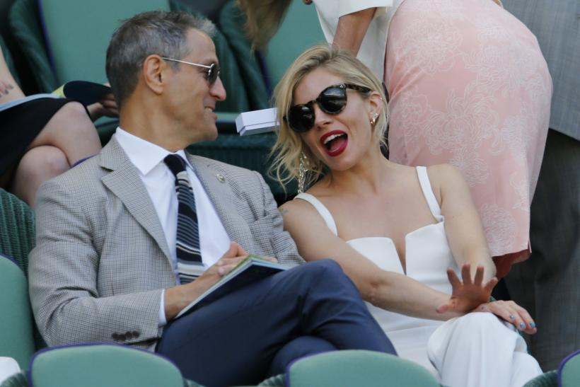 [9:35] Actor Sienna Miller on Centre Court at the Wimbledon Tennis Championships in London